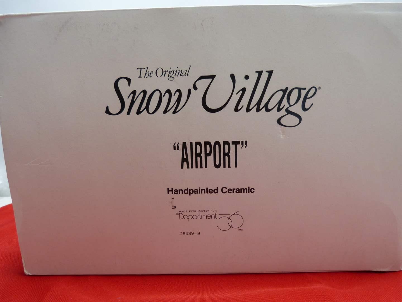 "Lot # 35  Dept 56 Snow Village ""Airport""  Nice condition (missing light)"
