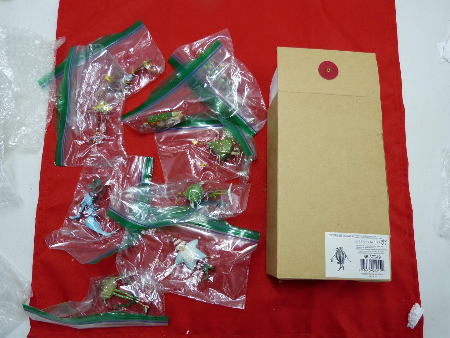 Lot # 37  Nice collection of Dept 56 ornaments (main image)