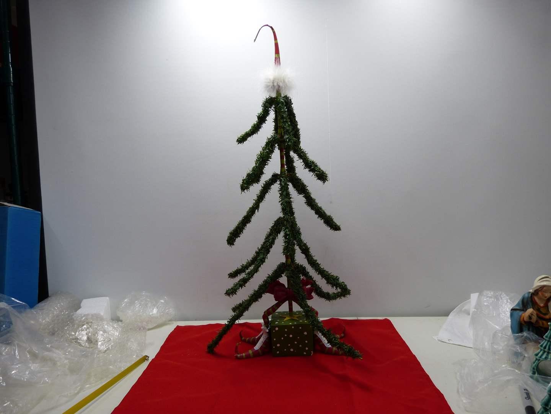 "Lot # 42  Very interesting Dept 56 Christmas Tree 24"" tall  (main image)"