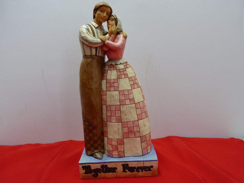"Lot # 48  Jim Shore ""Together Forever"" 2006 (no box) (main image)"