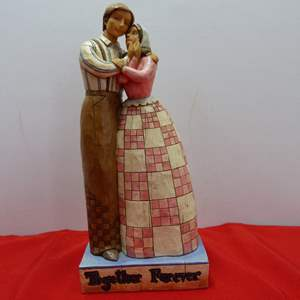 """Lot # 48  Jim Shore """"Together Forever"""" 2006 (no box)"""