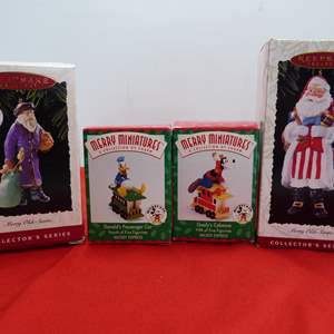 Lot # 53  Nice grouping like new Christmas ornaments to include Disney Miniatures