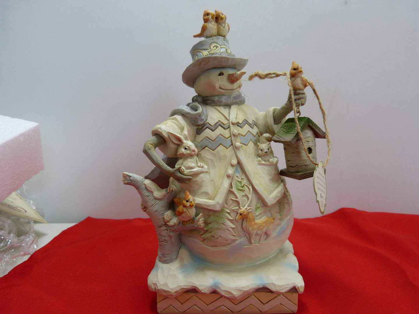"""Lot # 56  Jim Shore """"Sing for Winter"""" snowman in box (main image)"""