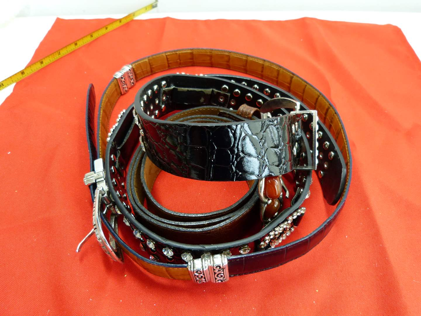 Lot # 59  Lot of ladies collectible belts to include Brighton (main image)