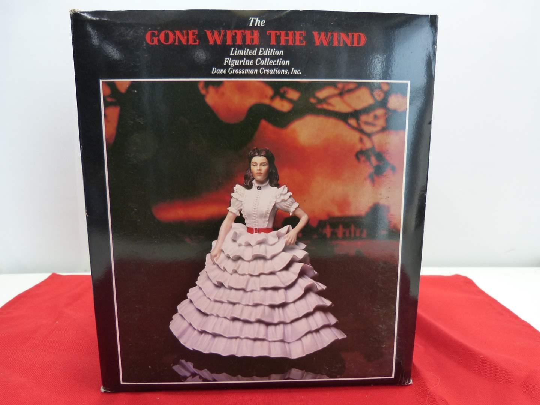 "Lot # 60  Gone with the Wind ""Scarlett figurine in original box w/COA (main image)"