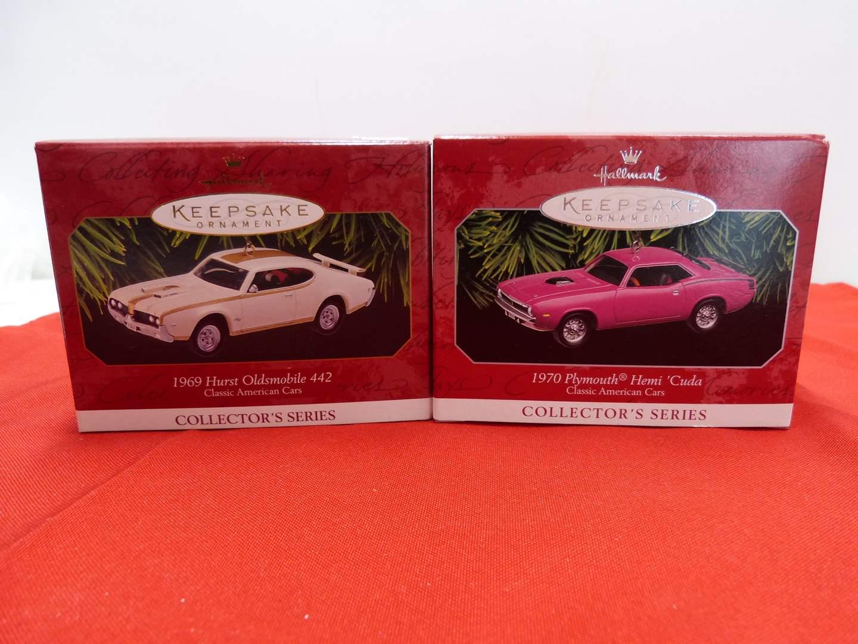 Lot # 67  2 Hallmark Keepsake car ornaments in boxes