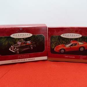 Lot # 70  2 Hallmark Keepsake car ornaments in boxes