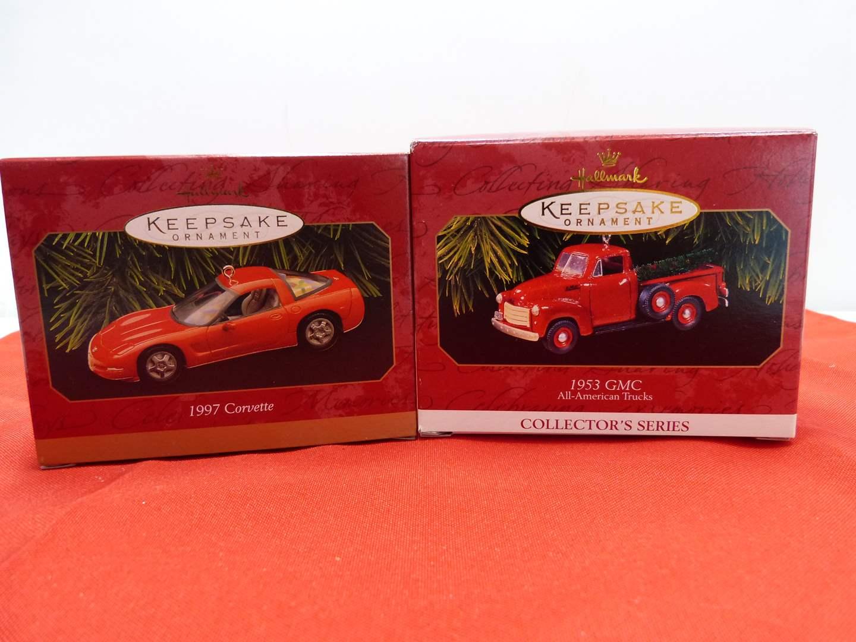 Lot # 71  2 Hallmark Keepsake car ornaments in boxes (main image)