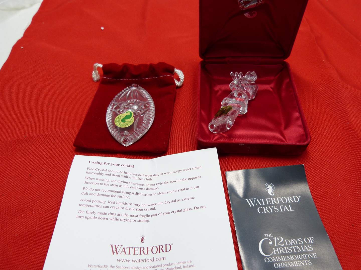 Lot # 77  2 Waterford crystal ornaments (main image)