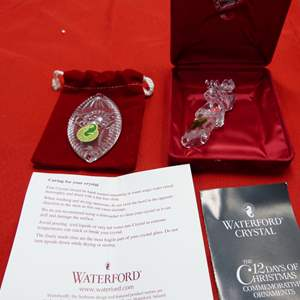 Lot # 77  2 Waterford crystal ornaments