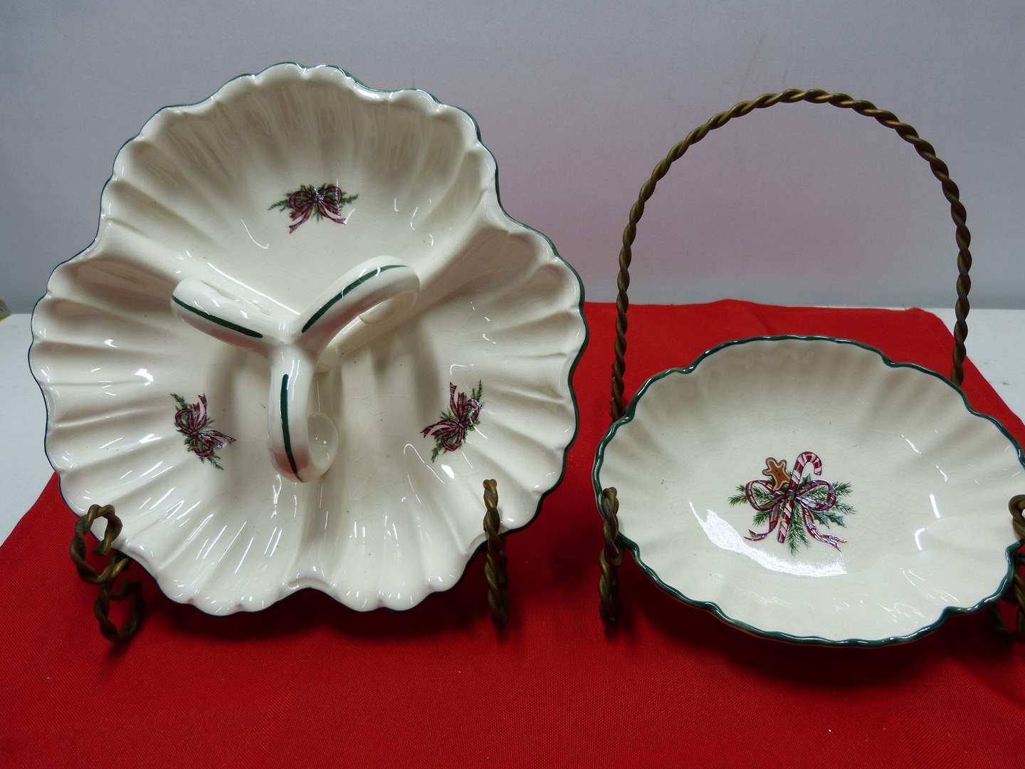 """Lot # 82  2 great """"The Cellar Holiday serving dishes (main image)"""