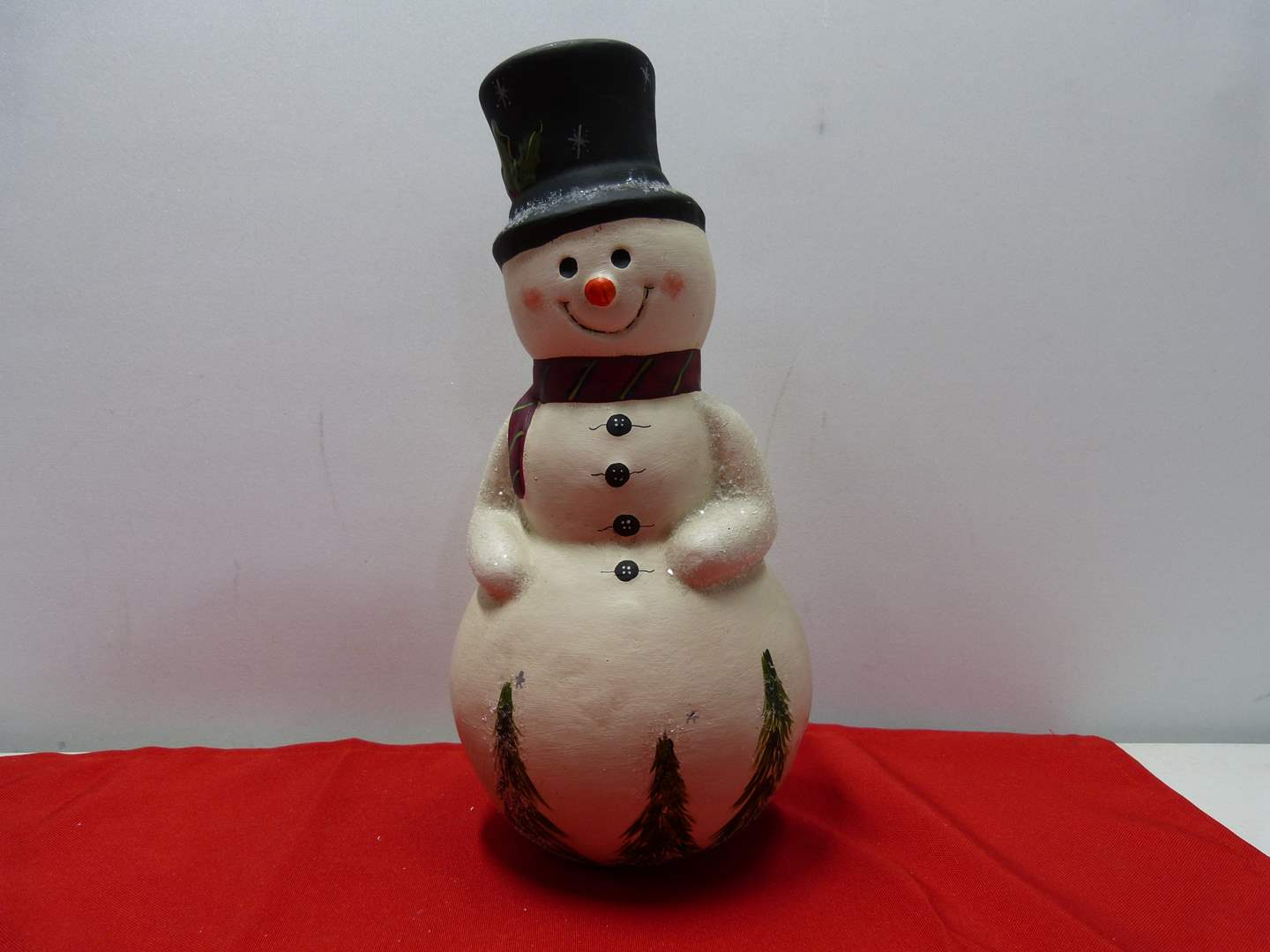 """Lot # 86  Great """"Walnut Ridge Collectibles"""" Hand painted snowman - hand signed (main image)"""