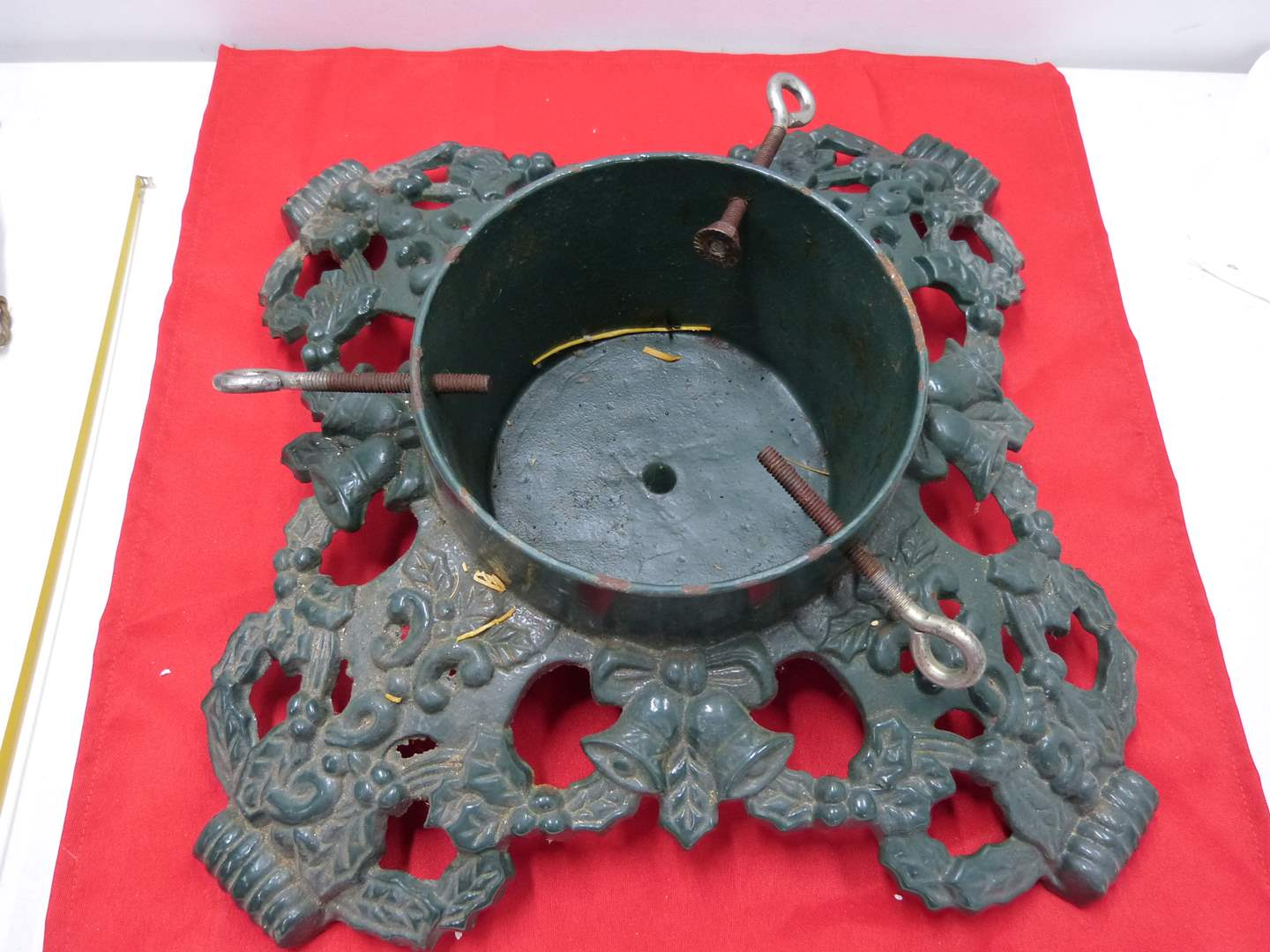 Lot # 90  HEAVY cast iron real Christmas Tree stand (main image)