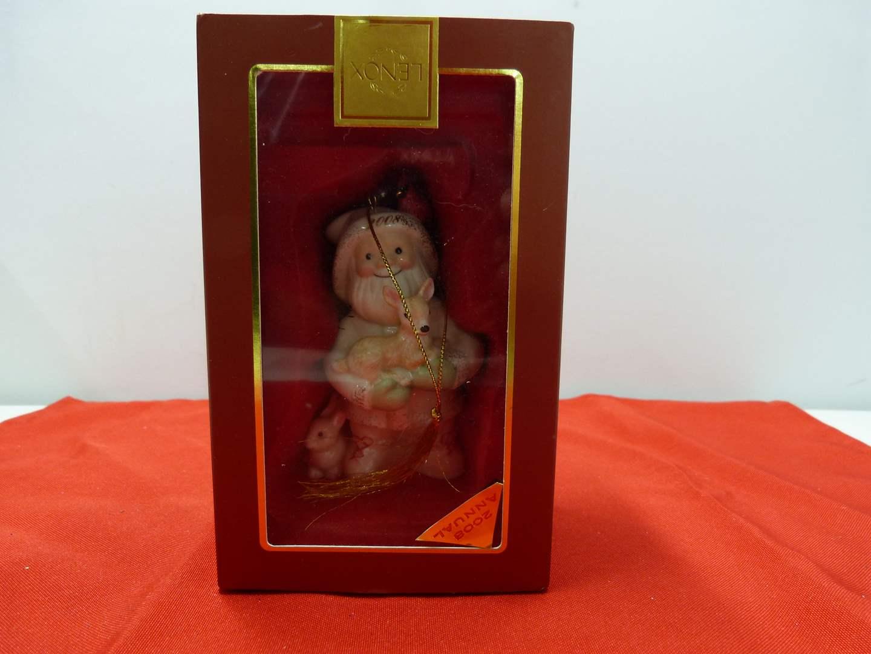 Lot # 92  Great Lenox Christmas Ornament (original box)