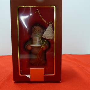 Lot # 93  Great Lenox Christmas Ornament (original box)