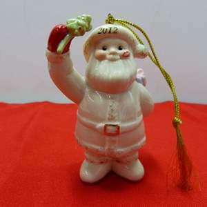 Lot # 95  Great Lenox Christmas Ornament (original box)