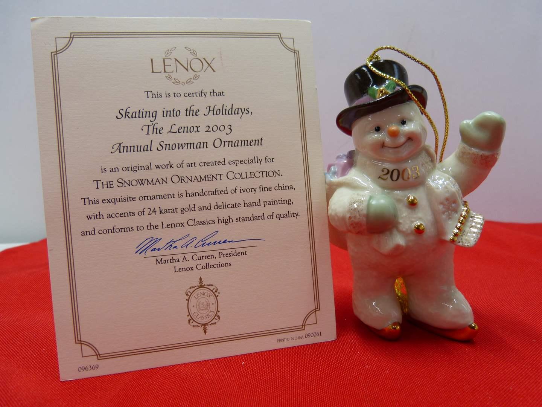 Lot # 97  Great Lenox Christmas Ornament (original box) (main image)