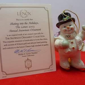 Lot # 97  Great Lenox Christmas Ornament (original box)