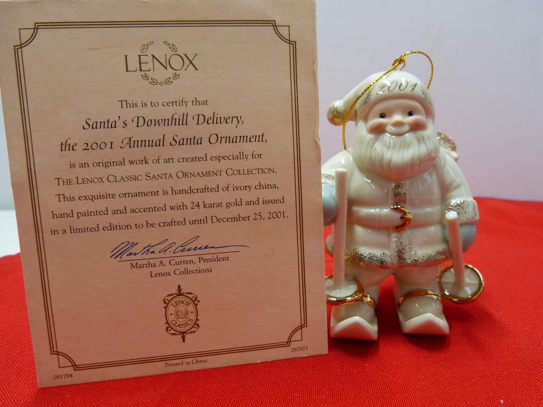 Lot # 98  Great Lenox Christmas Ornament (original box)