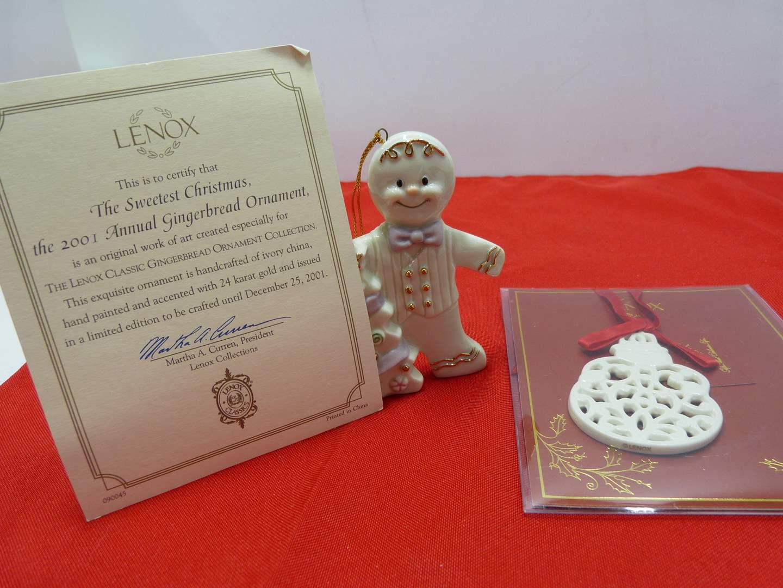 Lot # 99  2 Nice Lenox collectible Christmas ornaments