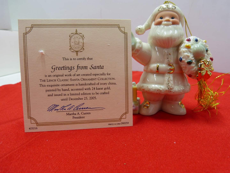 Lot # 100  Great Lenox Christmas Ornament (original box)