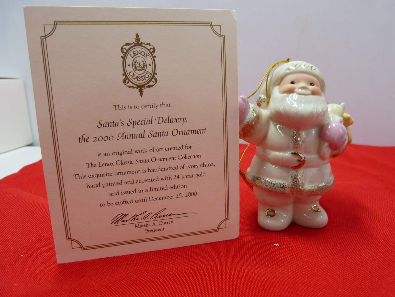 Lot # 103  Great Lenox Christmas Ornament (original box)