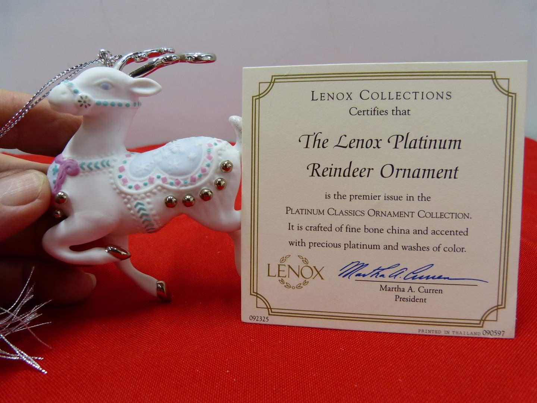 Lot # 104  Different Lenox Christmas Ornament (original box)