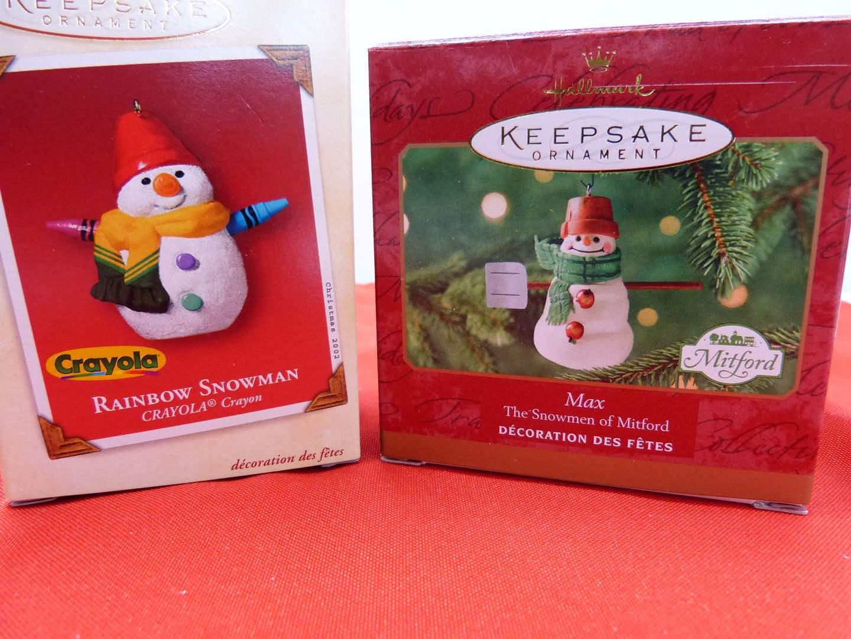 Lot # 107  2 Hallmark Keepsake Christmas ornaments (main image)