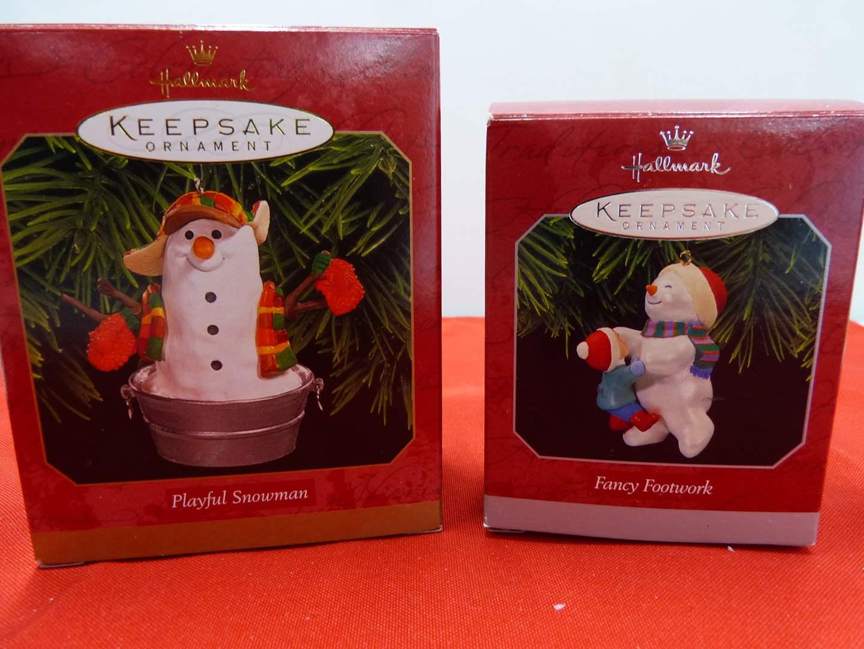 Lot # 111  2 Hallmark Keepsake Christmas ornaments (main image)