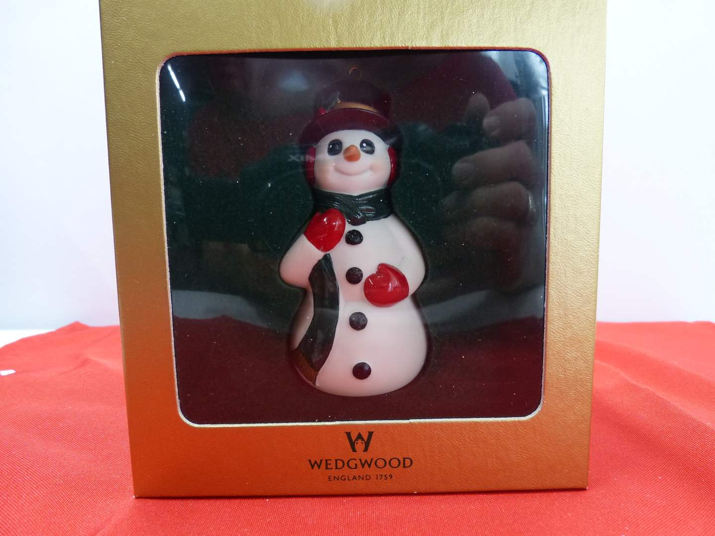 Lot # 113  Very collectible Waterford Snowman ornament (main image)