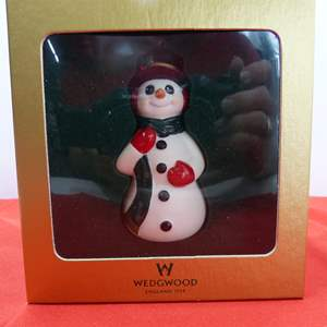 Lot # 113  Very collectible Waterford Snowman ornament