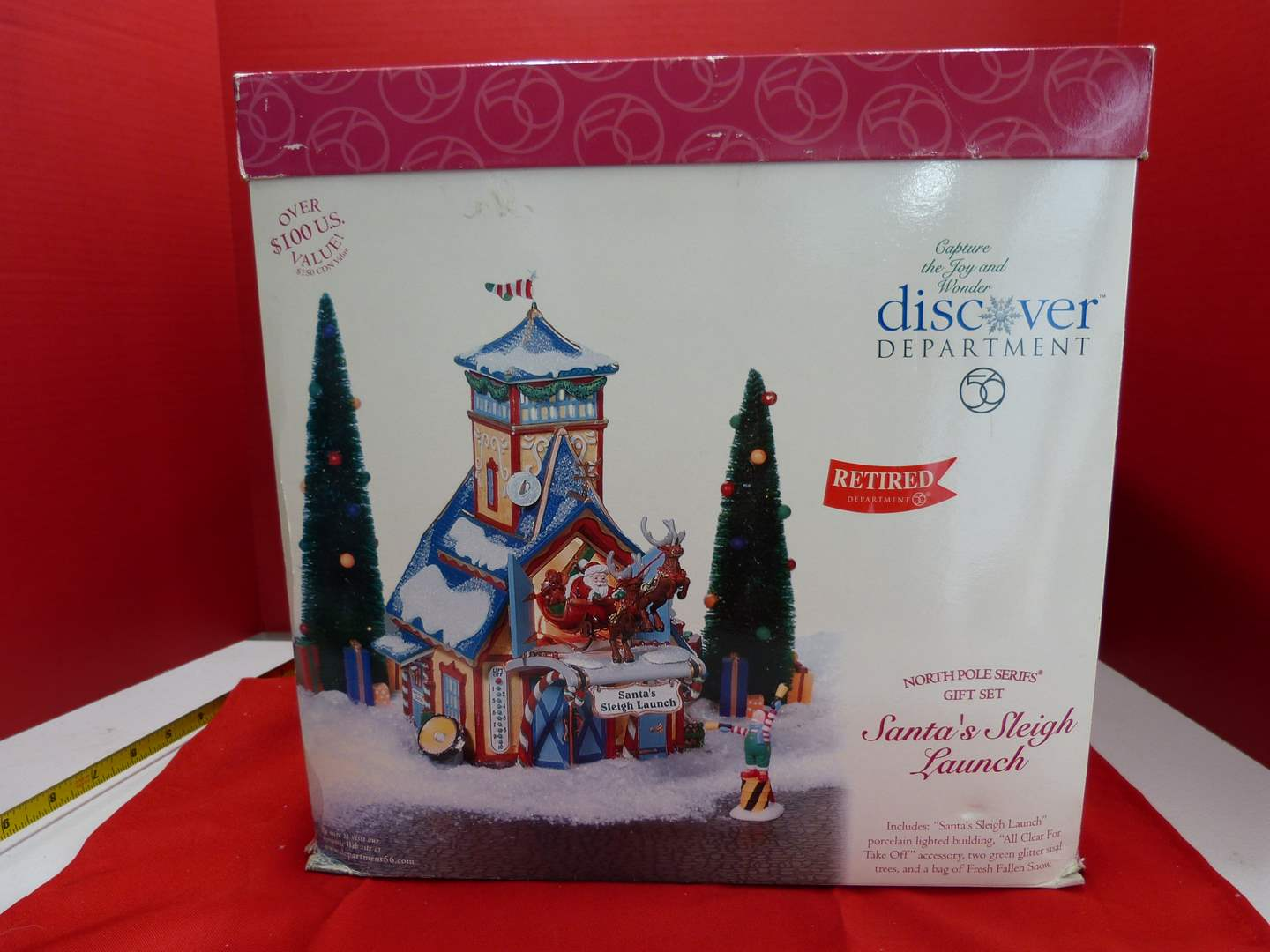 """Lot # 133  Det 56 """"Santa's Sleigh Launch"""" (not sure how this connects to light)"""