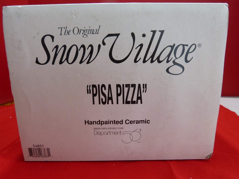"Lot # 135  Dept 56 Snow Village ""Pisa Pizza"" (no light) (main image)"