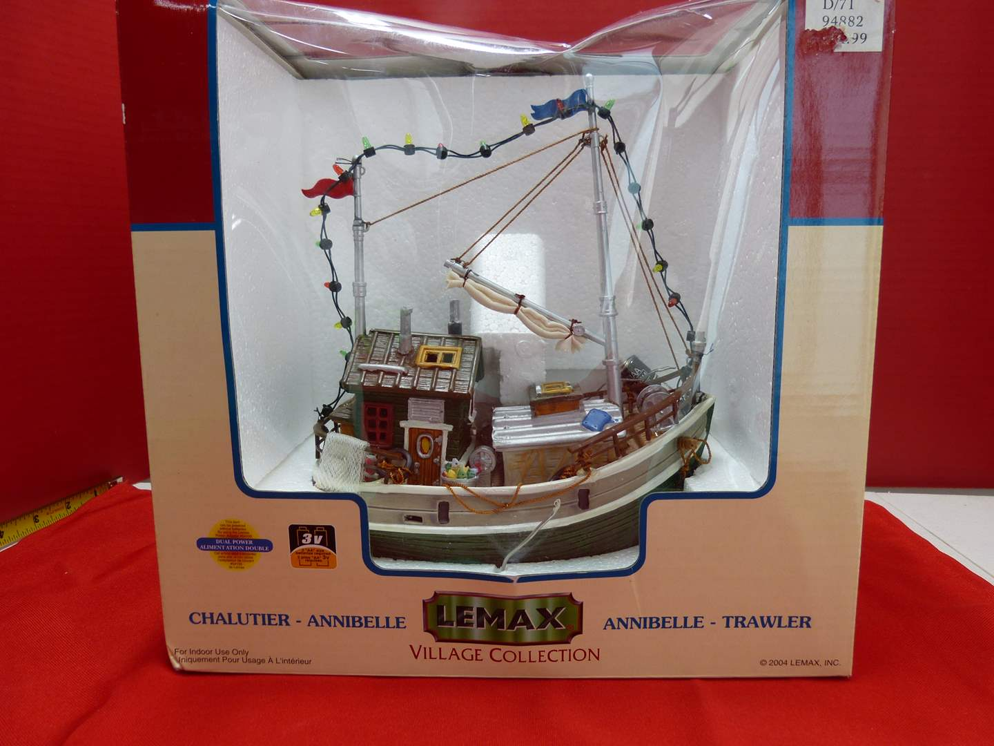 Lot # 137  Lemax Village Collection NEW ark light up (untested) (main image)