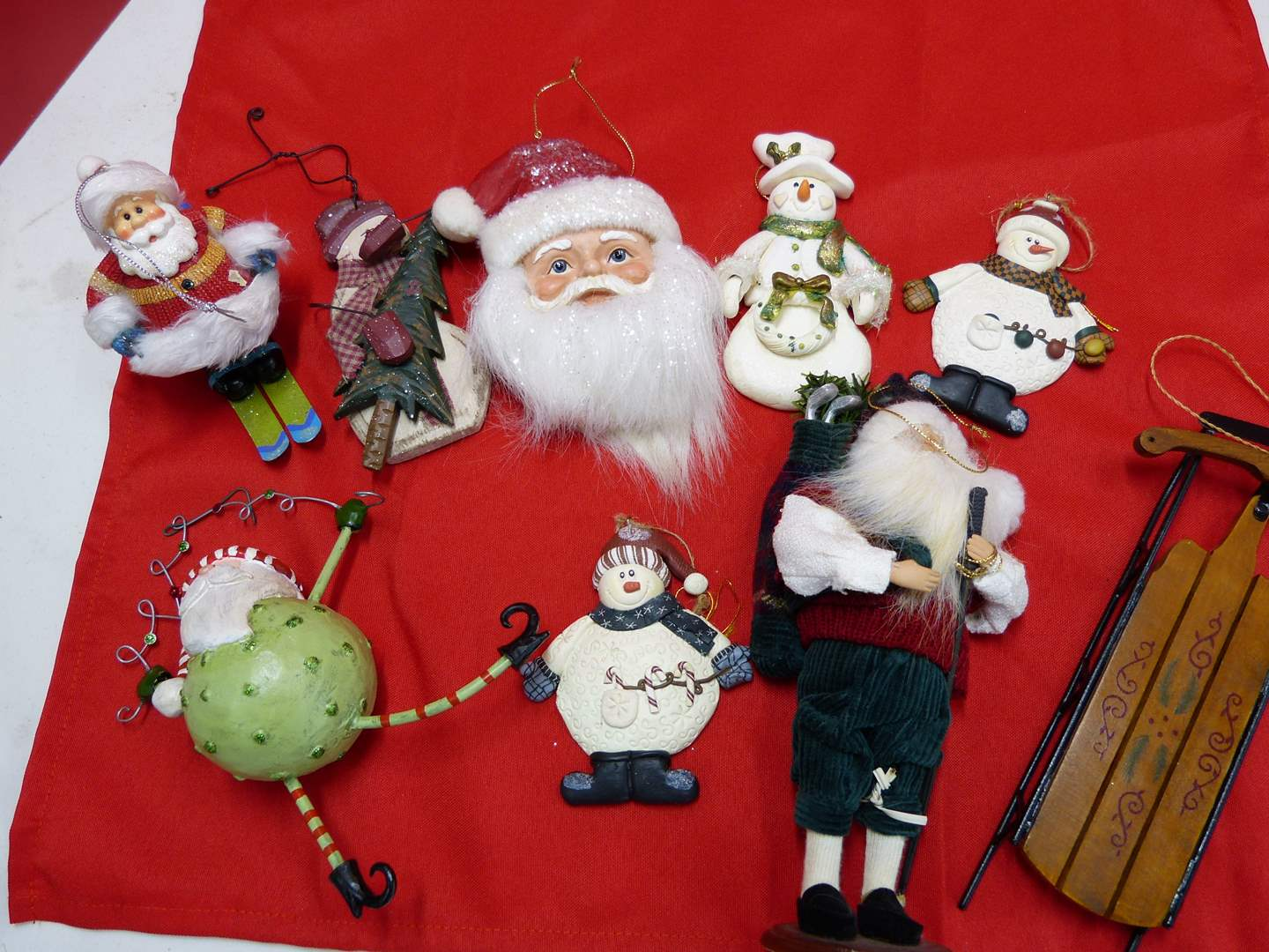 Lot # 142  Absolutely GREAT lot of Christmas ornaments  (main image)