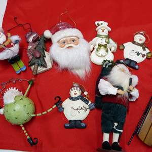 Lot # 142  Absolutely GREAT lot of Christmas ornaments
