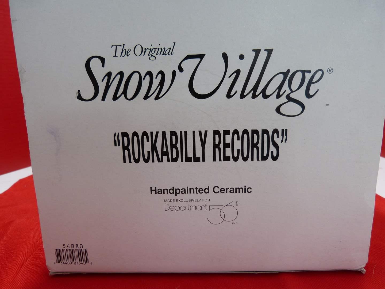 """Lot # 144  Dept 56 Snow Village """"Rockabilly Records"""" (no light) (main image)"""