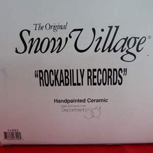 """Lot # 144  Dept 56 Snow Village """"Rockabilly Records"""" (no light)"""