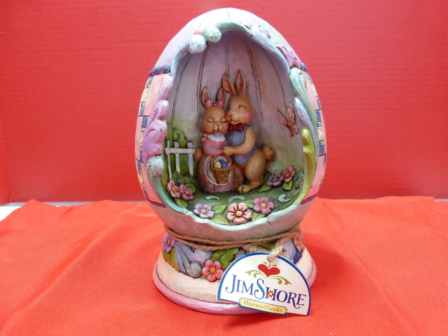 """Lot # 145  Great Jim Shore """"Spring Love"""" light up (untested but guaranteed) w/box"""