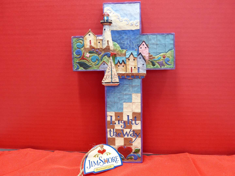 "Lot # 146  Jim Shore ""Wall Cross Decor"" new i box"
