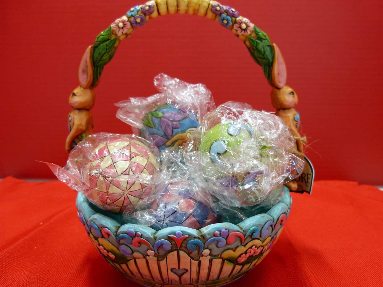 "Lot # 147  Great Jim Shore ""Hunting Eggs - Finding Joy"" NEW in box (main image)"