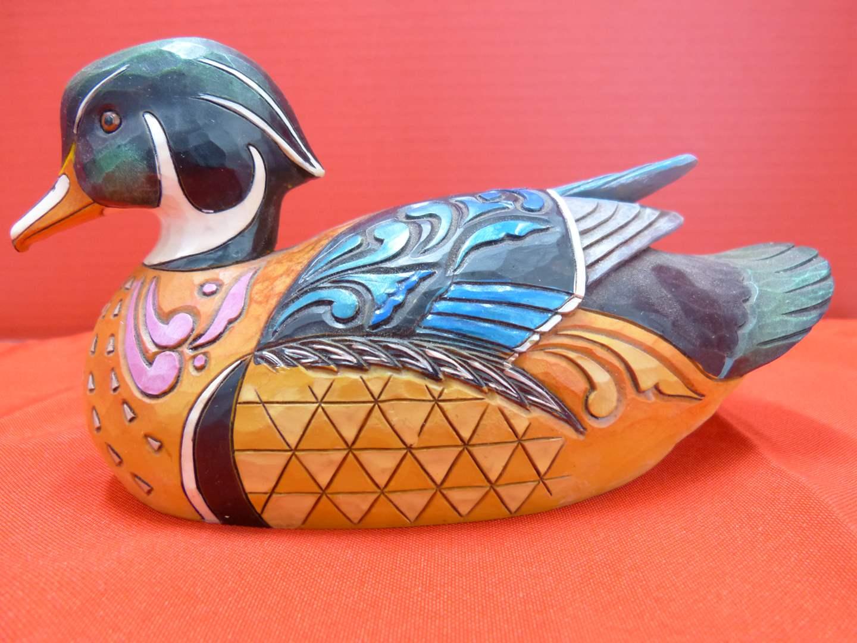 "Lot # 148  Jim Shore ""Just Duckie"" Duck Decoy w/box (GREAT LOOK) (main image)"