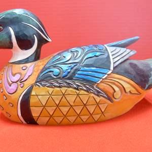 "Lot # 148  Jim Shore ""Just Duckie"" Duck Decoy w/box (GREAT LOOK)"
