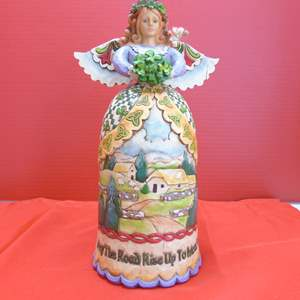 """Lot # 151  Jim Shore Angel """"May the Road Rise up to Meet You"""" like new in box"""