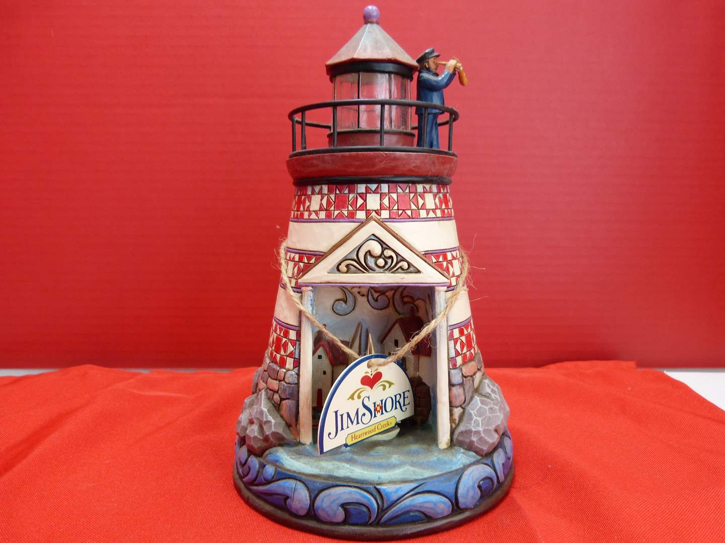 """Lot # 152  Jim Shore """"Summer Breezes"""" Lighthouse (lights up untested but guaranteed) (main image)"""