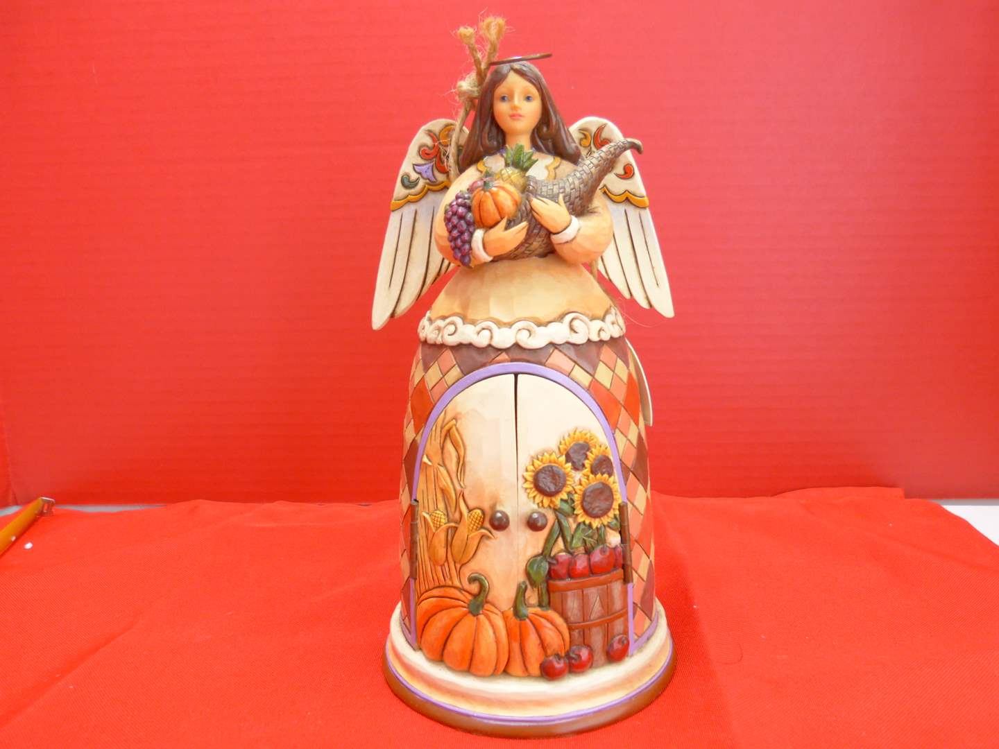 """Lot # 153  Jim Shore """"Beauty of the Harvest"""" Angel like new in box (main image)"""