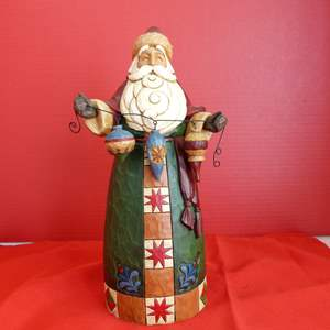 "Lot # 154  Jim Shore ""Santa"" like new in box"