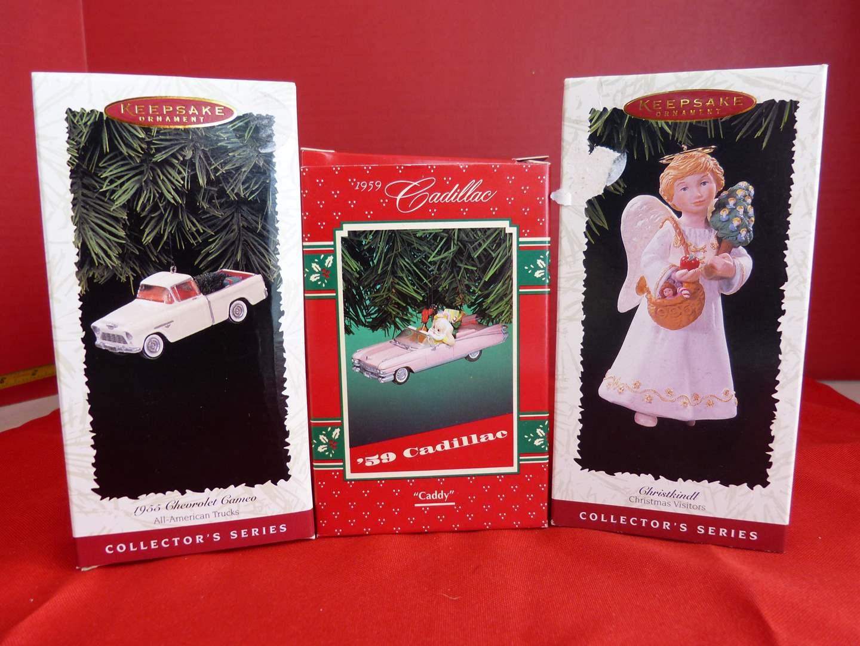 Lot # 155  3 Hallmark Keepsake ornaments in boxes (main image)