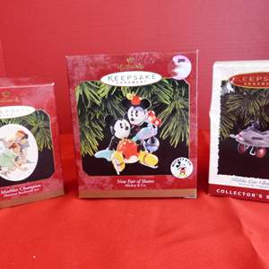 Lot # 157  3 Hallmark Keepsake ornaments to include great Norman Rockwell