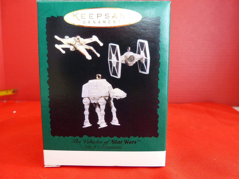 Lot # 158  Hallmark Keepsake STAR WARS 3 ornaments (these are miniatures)